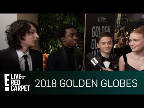 """Stranger Things"" Cast Excited for 2018 Golden Globe Awards 