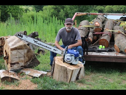 Смотрите сегодня Baumr-AG 92cc Chinese Chainsaw Review видео