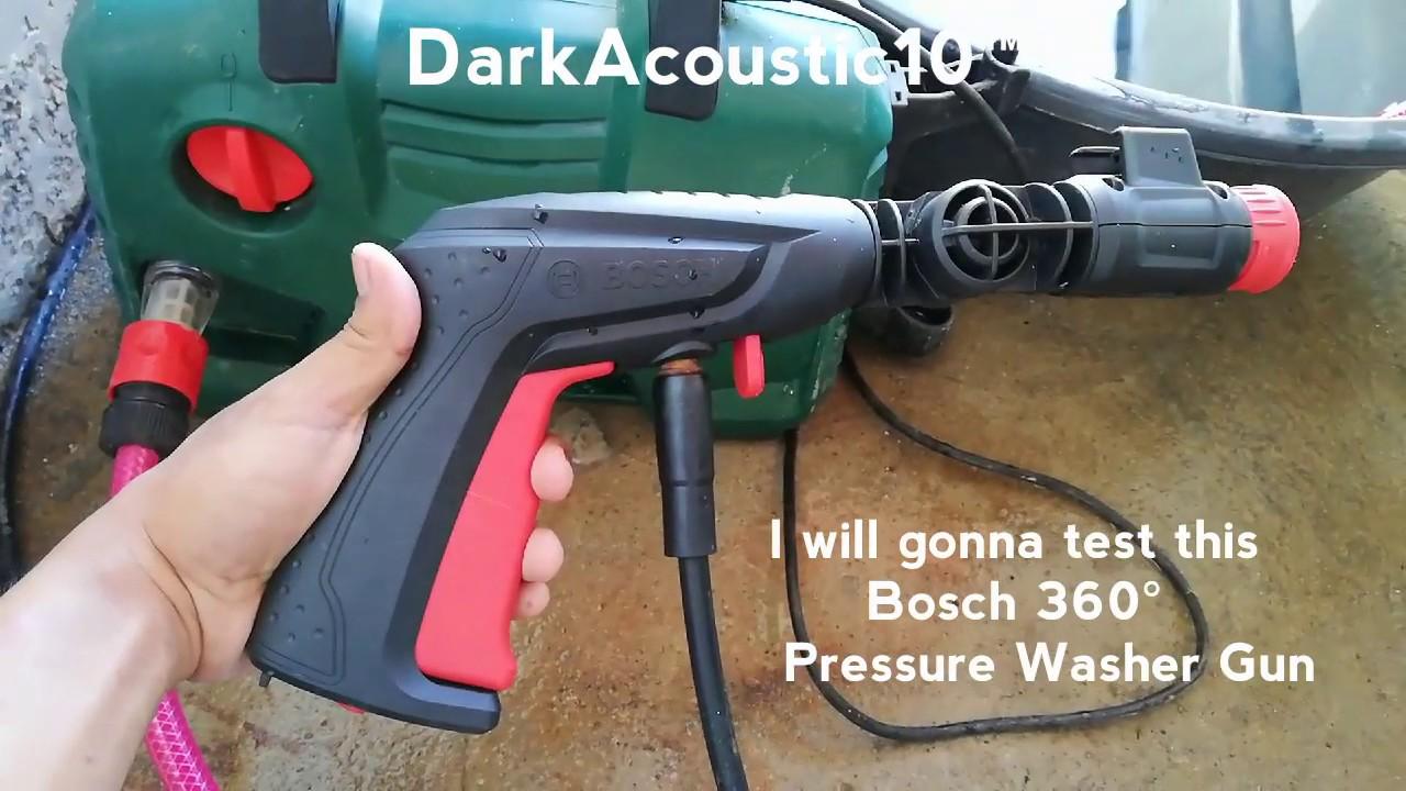 Bosch Easyaquatak 120 Pressure Washer 360 Degree Gun With Detergent