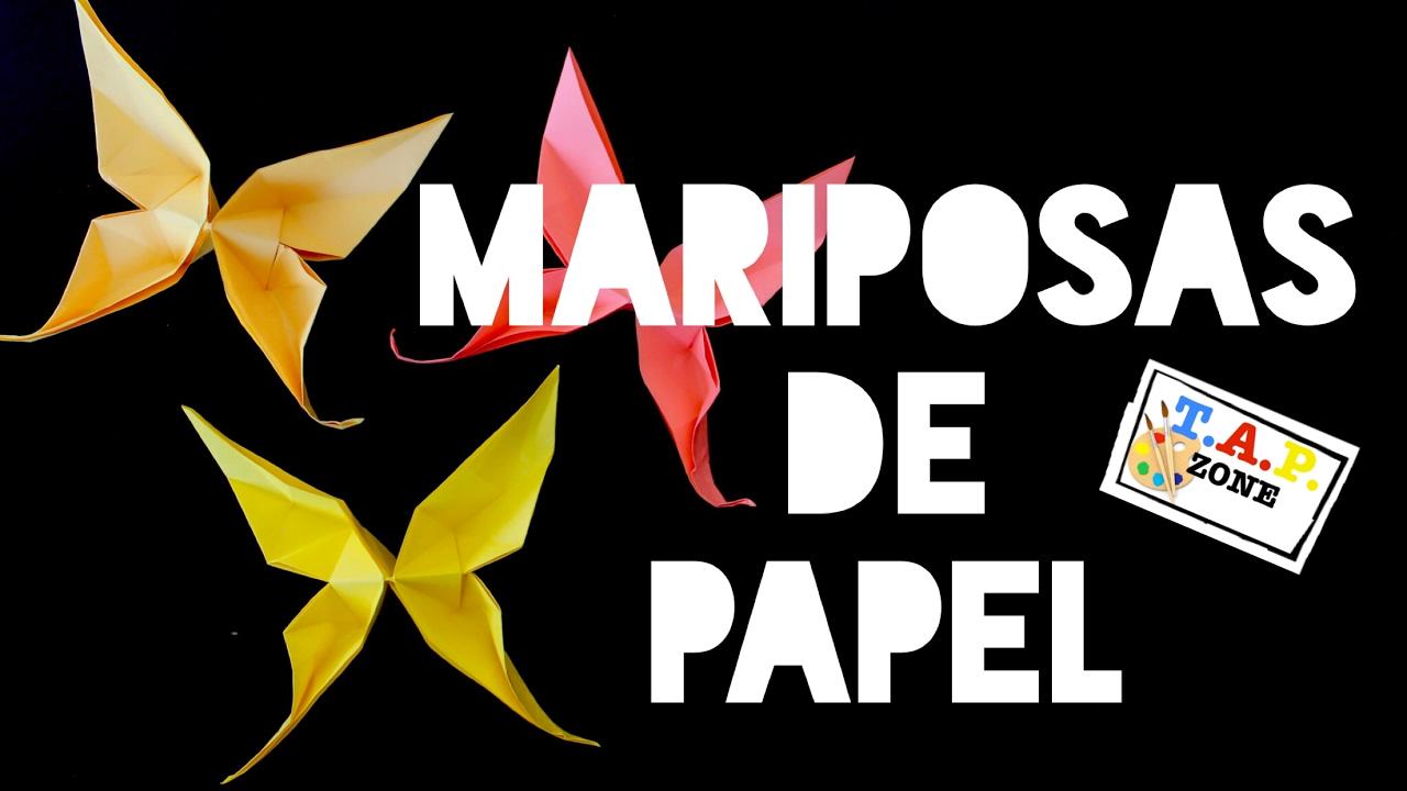 Como hacer mariposas de papel origami tap zone youtube - Como hacer mariposas de papel ...