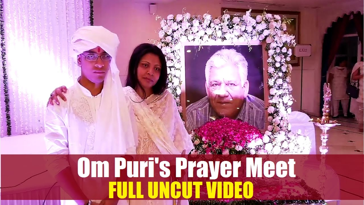 Om Puri's Prayer Meet hosted by Second Wife Nandita Puri ...