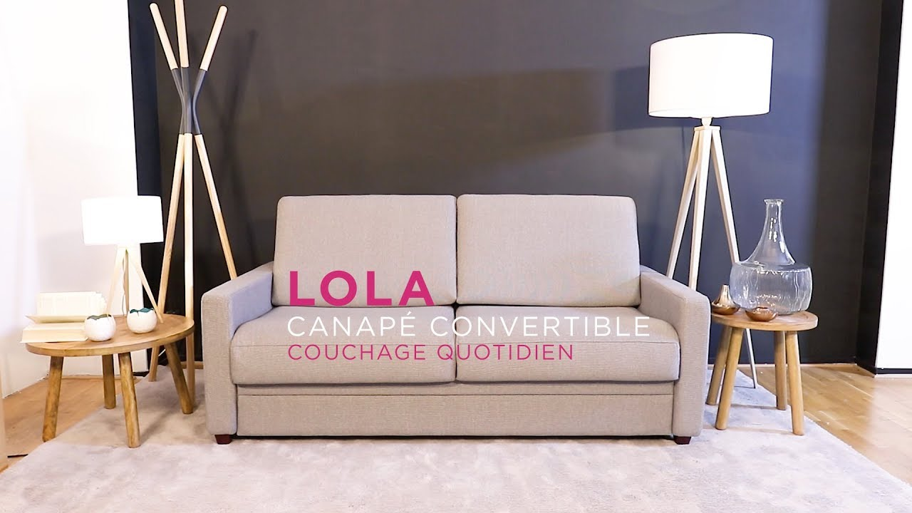 laminuteconvertible ep 5 lola canap convertible la maison du convertible youtube. Black Bedroom Furniture Sets. Home Design Ideas