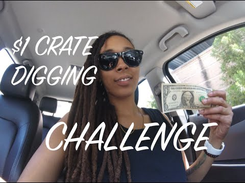 $1 Crate Diggin' Challenge! MAKING A BEAT FROM SCRATCH!