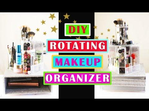 DIY Rotating Makeup Organizer