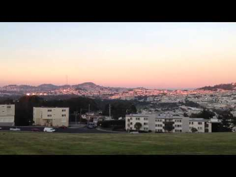 Sunset at Westmoor High, Daly City.