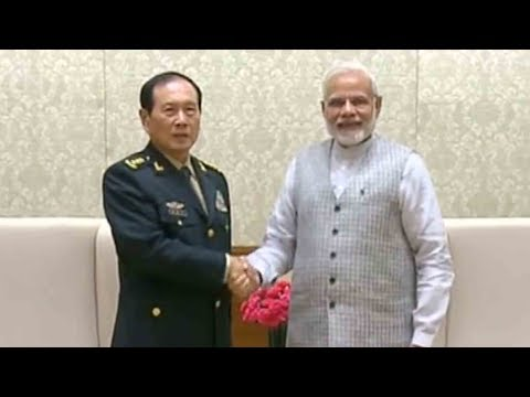 Chinese defense minister meets with PM Modi in New Delhi