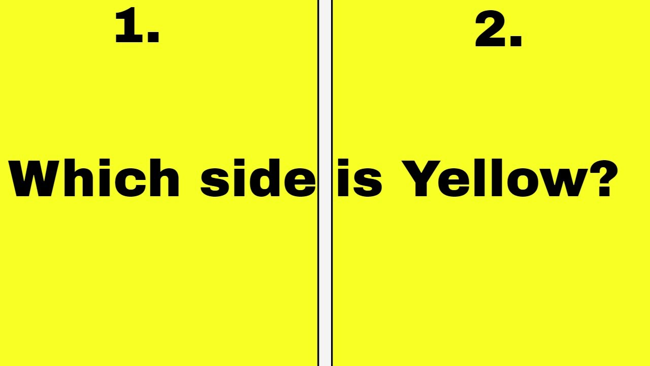 Man Digs Into How To Tell The Difference Between Yellow And