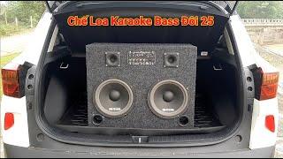 Chế loa kéo karaoke bass đôi 25 tiếng trầm uy lực dành cho ô tô