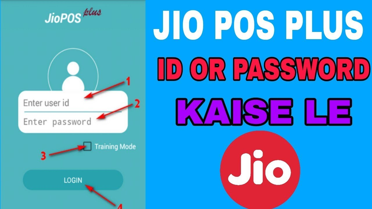 How to create jio pos plus id or password |
