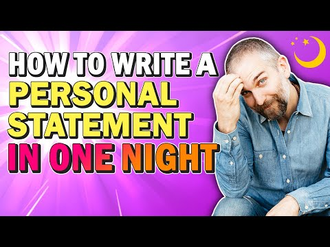 How Can Write My Personal Statement In One Night