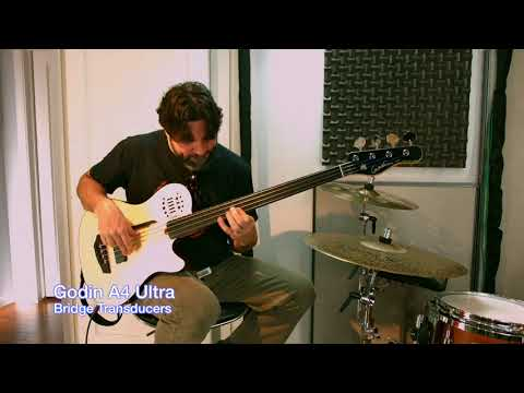 Jonathan Stoyanoff demos the Godin A4 Fretless Bass