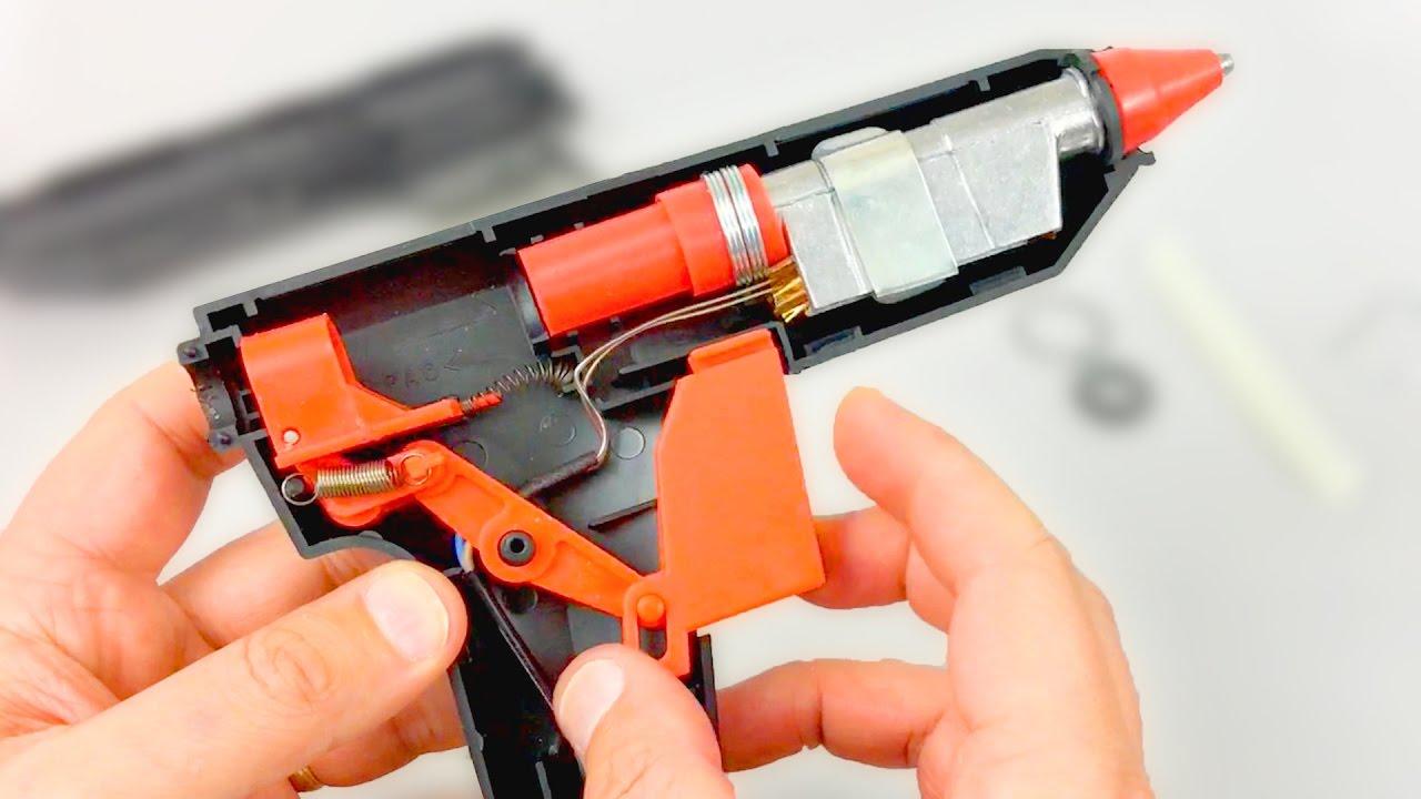 Que hay dentro de una pistola de silicona caliente youtube for Pistola de pegamento o de silicona