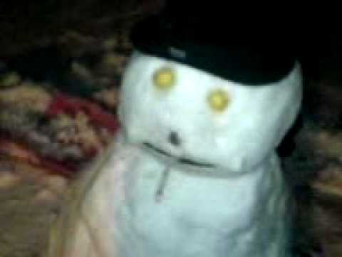 Snowman Smoking Weed