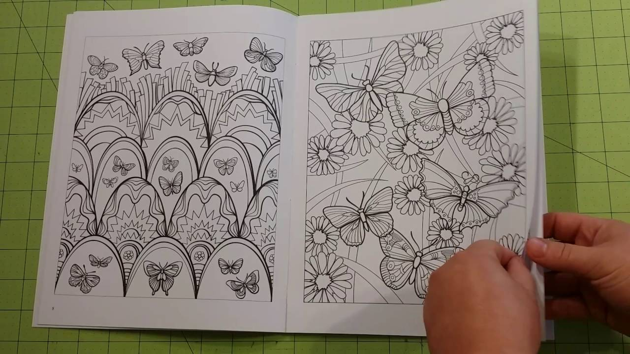 The Beautiful Butterfly Designs Adult Coloring Book Review Flip Through Dover