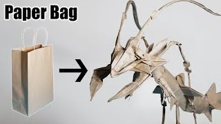 Make A Mega Rayquaza From A Paper Bag - Origami Pokemon (Henry Pham)