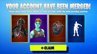 ACCOUNT MERGING in Fortnite... (FINALLY HERE) | Transfer skins in Fortnite!