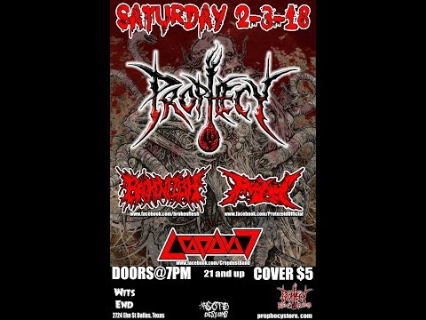 "2-3-18 PROPHECY ""Buried In Brimstone"" - Wits End - Dallas, TX - Promo Video Clip!"