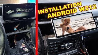 Detailed Install a Huge Android Screen & CANBUS (Steering buttons) on Mercedes W212, W204 E-Class