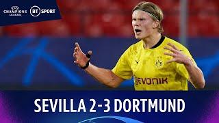 Sevilla v Dortmund (2-3) | Relentless Haaland bags brace! | Champions League Highlights