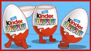Киндер Сюрприз. Живые киндеры. ФИКСИКИ. Kinder Surprise. Surprise Eggs.