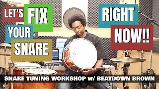 TUNE ANY SNARE DRUM FAST & EASY! - Snare Tuning Workshop 2018