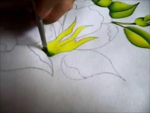 Como pintar en tela youtube - Pintura en tela motivos navidenos ...
