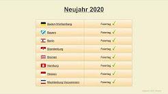 Feiertage Deutschland 2020 (Termine & Übersicht)