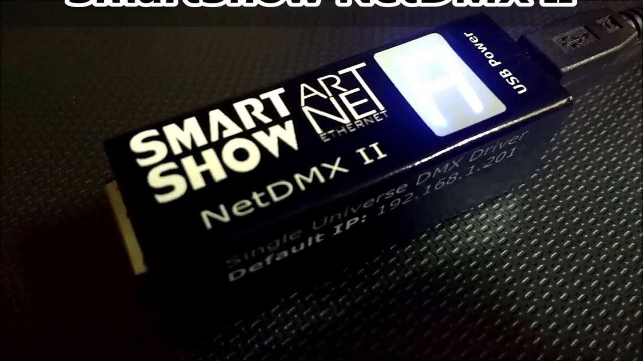 SmartShow : NetDMX II - ArtNet sACN to DMX DMX512 Interface
