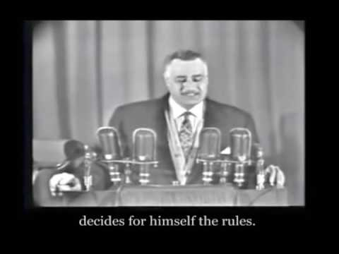 Egyptian President Gamal Adbel Nasser on the muslim brotherhood in 1966
