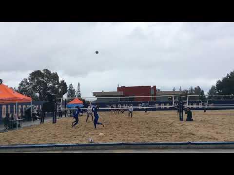 West Valley College Beach Volleyball: Mapu Sekona & Emma Blockhus vs San Jose State #1 Pair