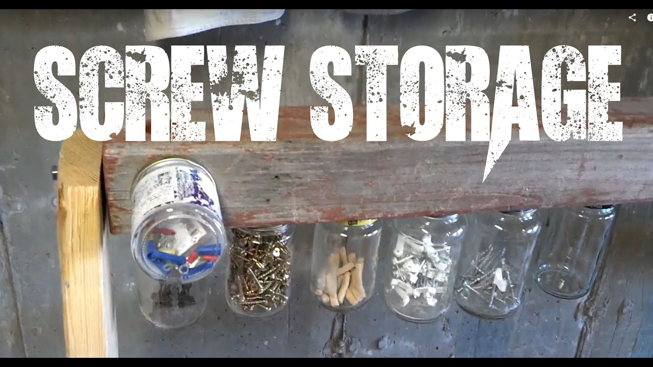 & Screw storage nail storage fastener storage garage storage - YouTube