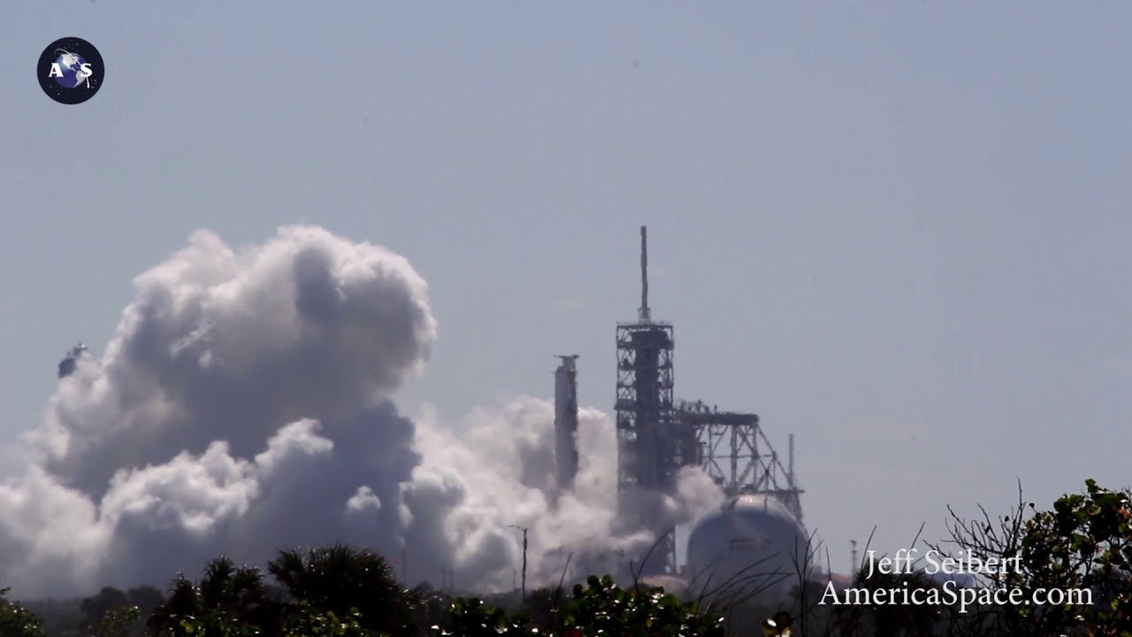 spacex falcon 9 static test fire for koreasat 5a oct 26 2017