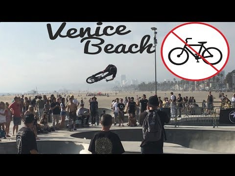 BMX REBEL RUN AT VENICE BEACH SKATEPARK! NO BIKES ALLOWED EVER!