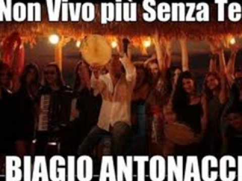 Biagio Antonacci - Non vivo più senza te.