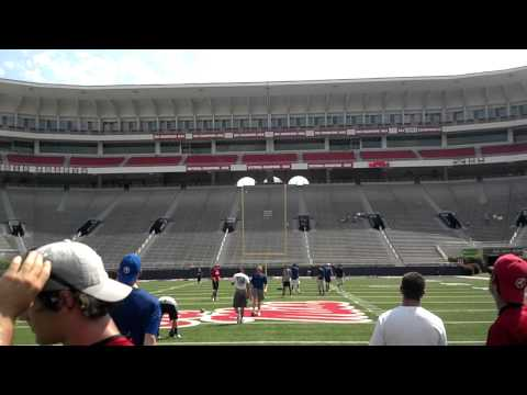 St. Louis Rams Punter Johnny Hekker Demonstrating at Camp