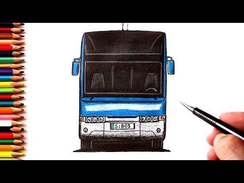 Как нарисовать Автобус спереди