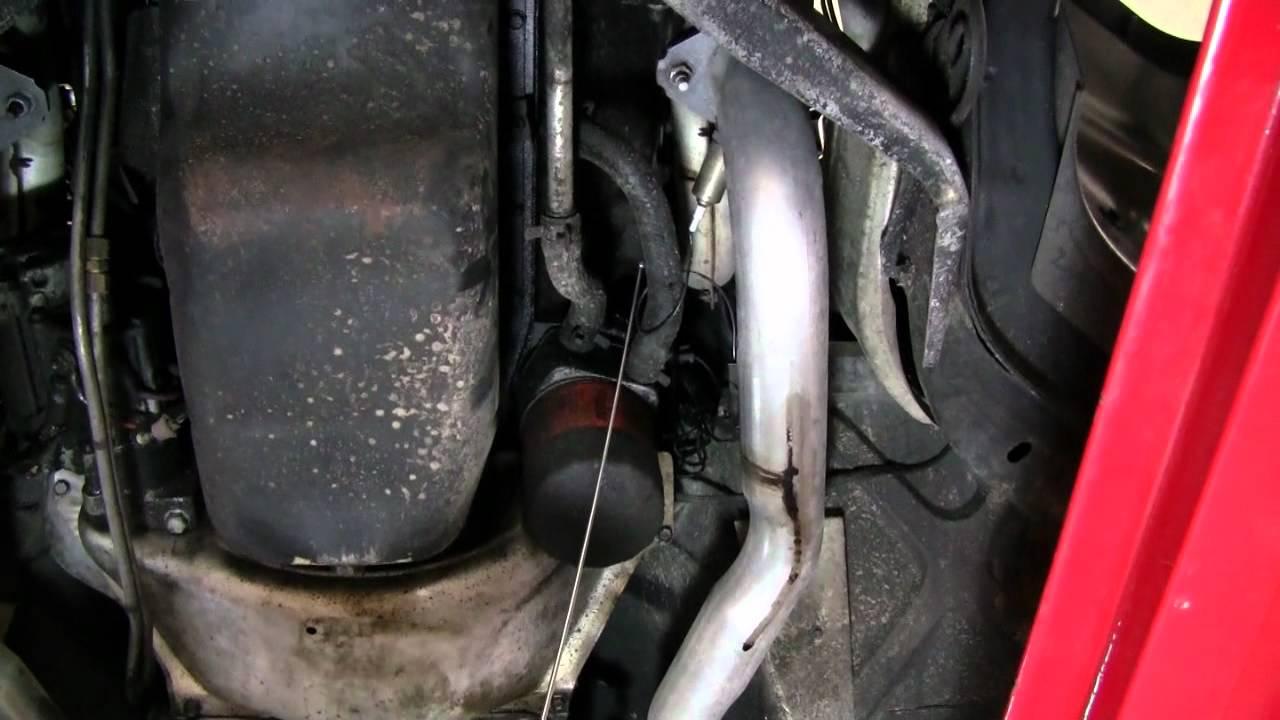 C4 Corvette Cutaway Oil Filter Cooler O2 Sensor Youtube