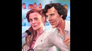 speed art Molly Hooper-Louise Brealey Sherlock- Benedict Timothy Carlton Cumberbatch BBC