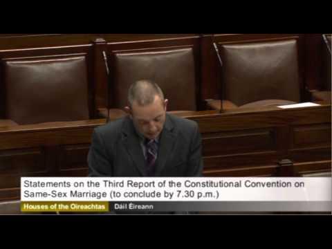 Fine Gael TDs Charlie Flanagan and Jerry Buttimer statements on same sex marriage referedum.