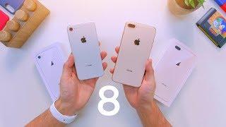 Early iPhone 8 vs 8 Plus Unboxing & Comparison!