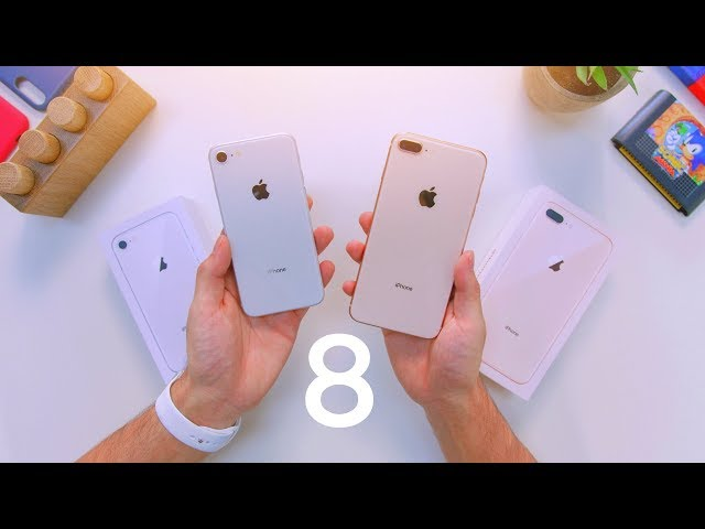 Early iPhone 8 vs 8 Plus Unboxing & Comparison!