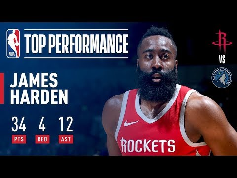 James Harden Drops 34 &12 in Minnesota!