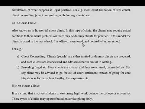 Lecture 1 Clinical Legal Education.