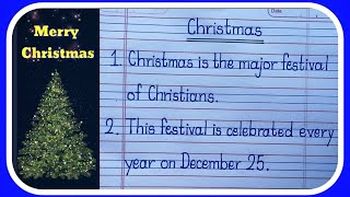 5 lines Short Eṡsay On Christmas in English Writing/Christmas-Learn Essay Speech