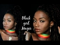 ULTIMATE GLOWY Foundation for DARK SKIN | BLACK GIRL MAGIC! EASY Photoshoot Makeup!