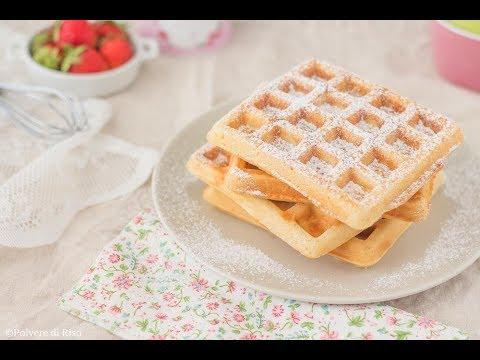 Ricetta Waffle Di Benedetta.Waffle Senza Burro Con Farina Di Riso Polvere Di Riso Youtube