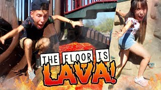 The Floor is Lava real life with NERF GUNS! - 140 Degrees! (At a New PLAYGROUND!)
