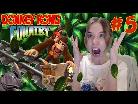 Donkey Kong Country Snes Gameplay Español Parte 5: ¡ODIO LOS RAÍLES!