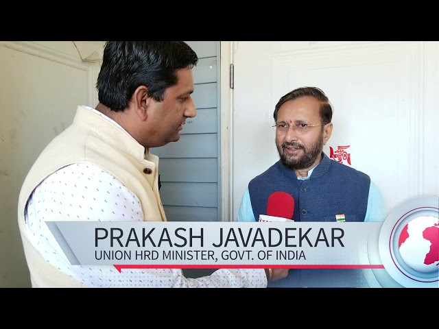 Union HRD Minister Prakash Javadekar in Surrey Temple
