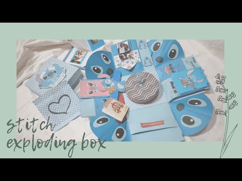 Stitch Exploding/Explosion Box for Friend // Birthday Gift Ideas // Indonesia